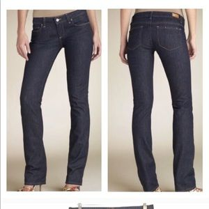 """Paige """"Blue Heights"""" Low Rise Skinny Jeans Sz 30"""